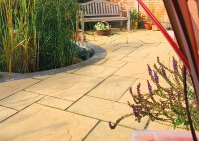Fossil Buff paving Swindon