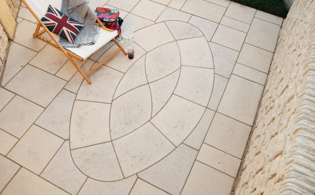 baroque oval paving slabs Wiltshire